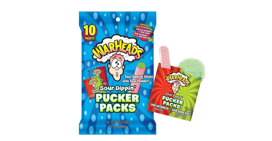 Warheads Peg Bag Sour Pucker Packs