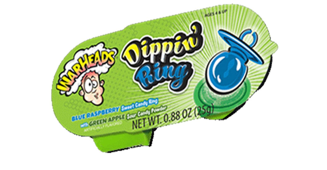 Warheads Dippin Ring Blue Raspberry with Green Apple 25g