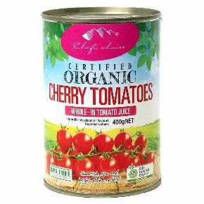 Cherry Tomatoes, organic tinned - 400g