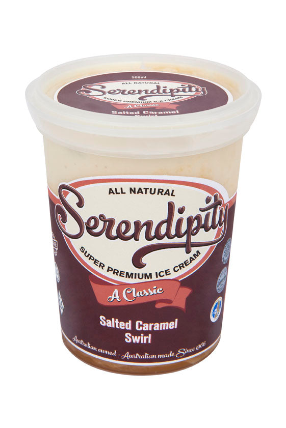 Ice Cream, Salted Caramel Swirl - 500mL