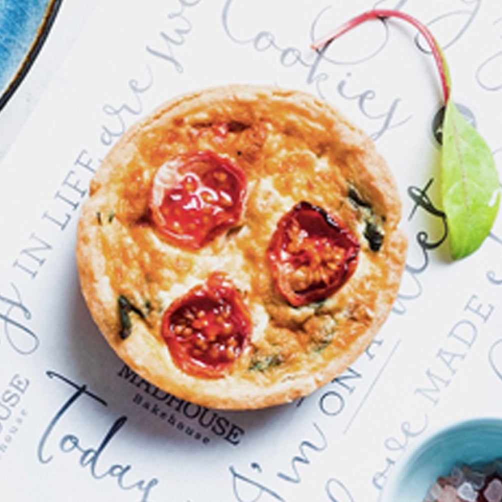 Roasted Cauliflower, Haloumi, Rocket and Cherry Tomato Quiche  - 4 pack