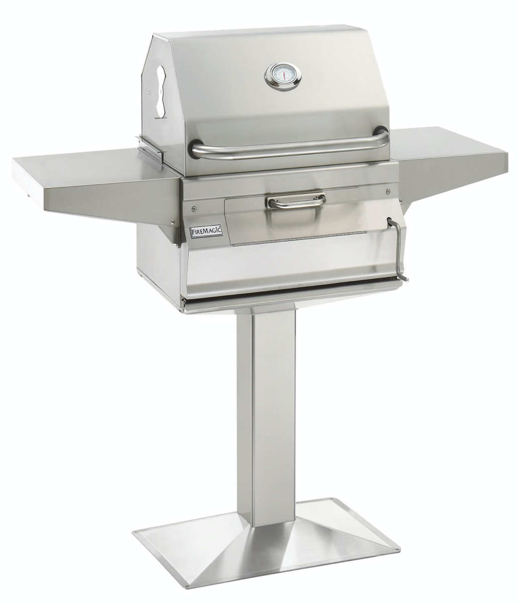 Fire Magic Charcoal Stainless Steel Patio or Post Mount Grill - Babe's BBQ Warehouse