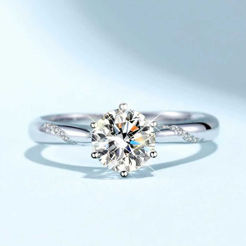 Classic natural Moissanite gemstone ring. We have from 0.3 - 3.0 ct.
