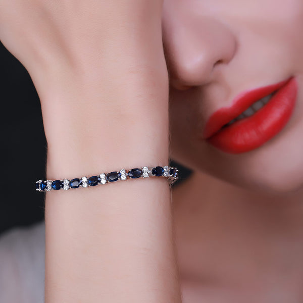 Sapphire with Blue Spinels bracelet.