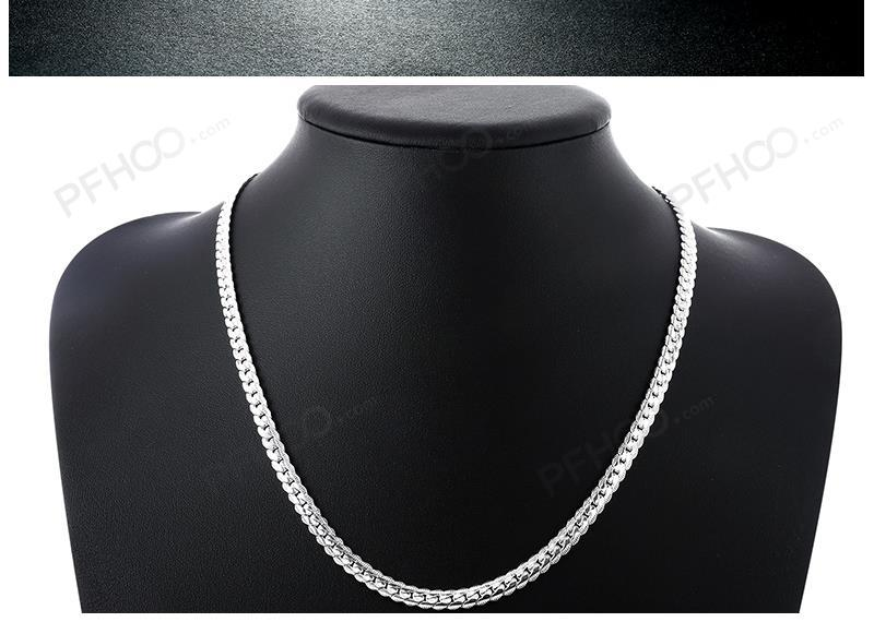Sterling silver men's necklace (5mm) (50cm)