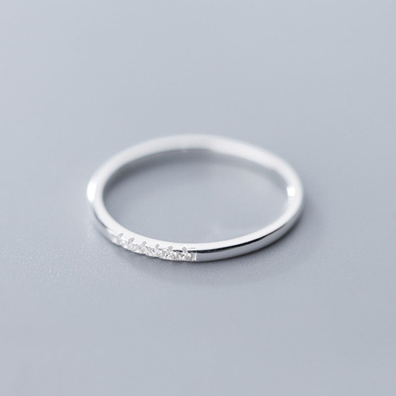 Sterling Silver with Zircon ring.