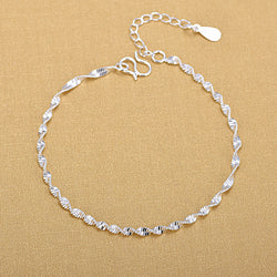 Twisted chain bracelets/Ankle bracelet with 925 sterling Silver
