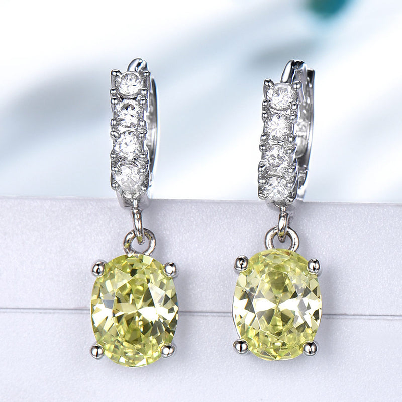 Topaz Yellow Gemstone jewelry set
