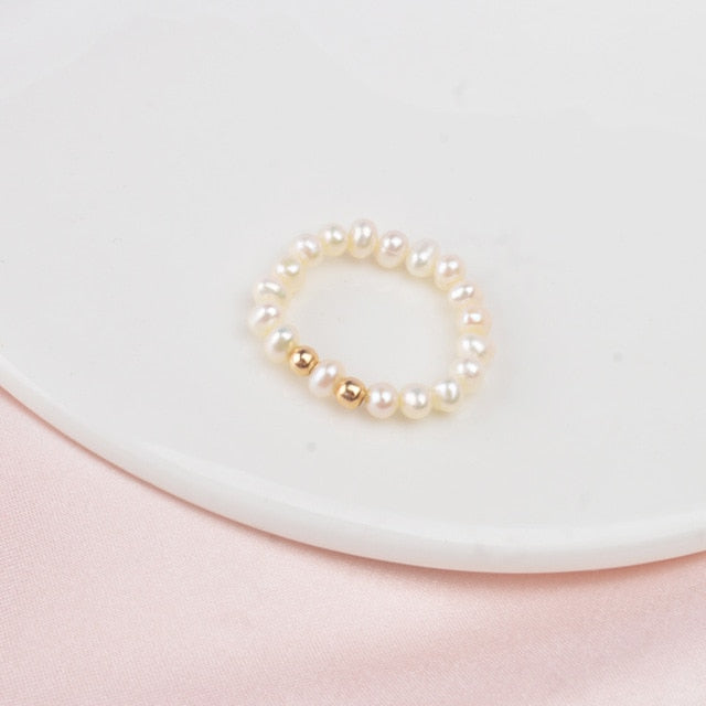 Freshwater Pearl rings with sterling Silver
