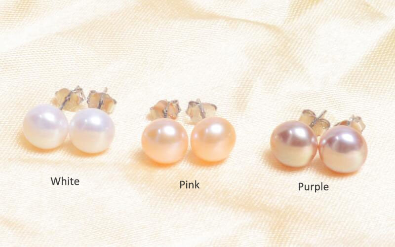 Freshwater Pearl stud earrings with 925 sterling Silver