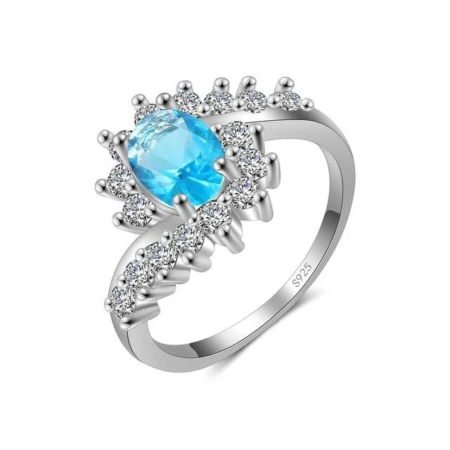 Zircon & sterling Silver ring