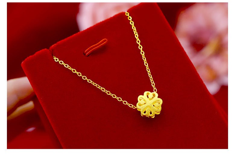 "Gold plated ""Charms"" Short Pendant Necklace."
