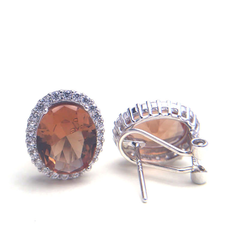 Diaspore Zultanite gemstone stud earrings with 925 Sterling Silver