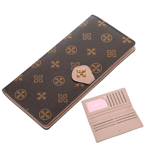 Designer Leather Long Wallet with Credit Card Organizer by BAELLERRY
