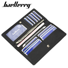 Load image into Gallery viewer, Designer Leather Long Wallet with Credit Card Organizer by BAELLERRY