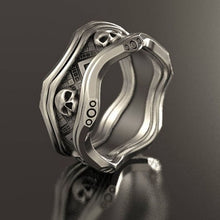 Load image into Gallery viewer, FANKU  Retro Style Gothic Crown Skull Ring for Men