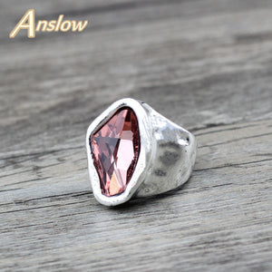 Anslow Original Design Irregular Crystal Ring for Women