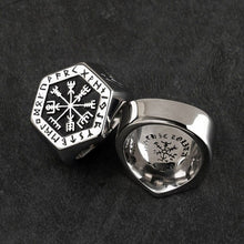 Load image into Gallery viewer, ODIN  Classic Viking Compass Rune Ring for Men