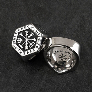 ODIN  Classic Viking Compass Rune Ring for Men