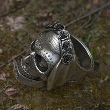 Load image into Gallery viewer, EYHIMD Goth Santa Muerte Stainless Steel Men's Skull Ring