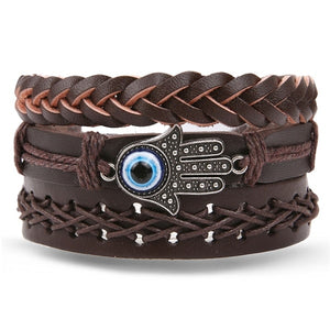 IFMIA Retro Leather Totem Bracelet for Men - 15 Designs to Choose