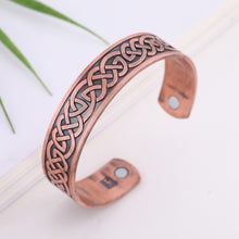 Load image into Gallery viewer, LIKGREAT  Celtic Knot Engraved Nordic Viking Bracelet for Men or Women