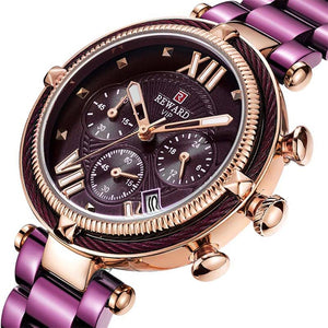 Designer Sports Bracelet Wristwatch with Chronograph for Women
