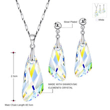 Load image into Gallery viewer, NEOGLORY  Sterling Silver Swarovski Crystal Earring & Necklace Set