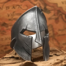 Load image into Gallery viewer, EYHIMD Classic Stainless Steel Spartan Helmet Men's Ring