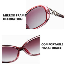 Load image into Gallery viewer, FENCHI  Women's Large Oval Frame Polarized Designer Sunglasses