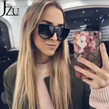 Load image into Gallery viewer, JZU Vintage Retro Flat top Designer Women's Sunglasses