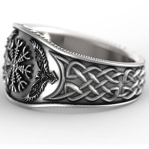 NORDIC Sterling Silver Viking/Nordic Warrior Compass Ring