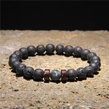 Load image into Gallery viewer, VINSWET Tibetan Buddha Volcanic Stone Bracelet for Men