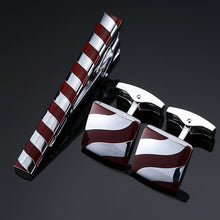 Load image into Gallery viewer, XKZM  Unique High Quality Cuff Link & Necktie Clip Set For Men