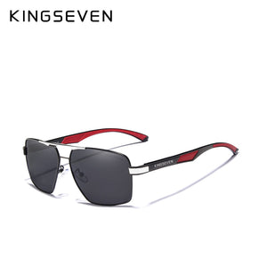 KINGSEVEN  Vintage Style Men's Polarized Aluminum Sunglasses with Modern Flair