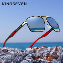 Load image into Gallery viewer, KINGSEVEN  Vintage Style Men's Polarized Aluminum Sunglasses with Modern Flair
