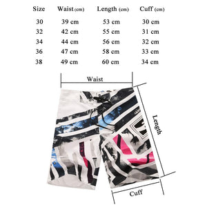 Men's Beach Trunks Board Shorts with Elastic Waist and Pocket