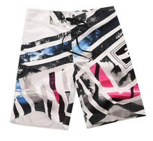 Load image into Gallery viewer, Men's Beach Trunks Board Shorts with Elastic Waist and Pocket