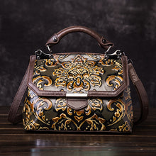 Load image into Gallery viewer, Handmade Genuine Leather Embossed Women's Cross-body Handbag