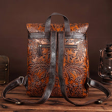 Load image into Gallery viewer, BAOERSEN   Genuine Leather Women's Embossed Rucksack Day-pack , Knapsack, Computer Bag, Backpack