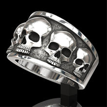Load image into Gallery viewer, BIO-FREAK  Zink Alloy Punk Skull Comfort Fit Ring