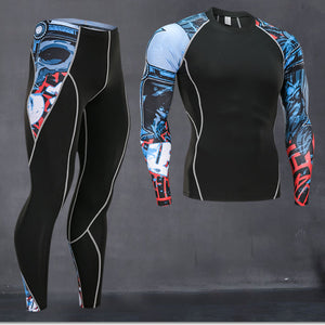 Thermal Compression Workout Fitness Active Wear for Men