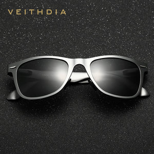 VEITHDIA  Designer Classic Style Men's Polarized Sunglasses with UV400 Protectant