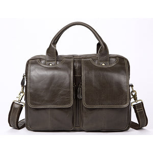 WESTAL  Rustic Men's Genuine Leather Laptop Messenger Bag for Business or Travel