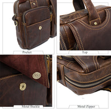 Load image into Gallery viewer, WESTAL  Rustic Men's Genuine Leather Laptop Messenger Bag for Business or Travel