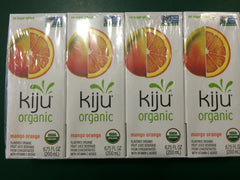 Kiju Organic Mango Orange Juice Boxes 4 pack