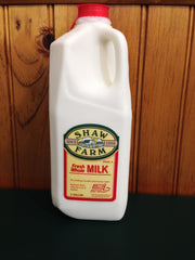 Shaw Farm - Whole Milk, half-gallon plastic