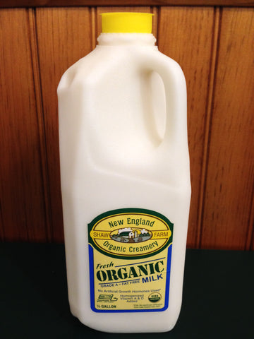 Shaw Farm - Organic Fat Free Milk, half-gallon
