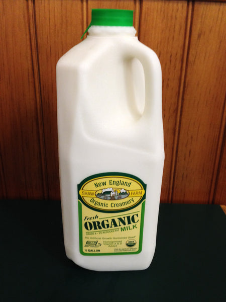 Shaw Farm Organic 2 Milk Half Gallon