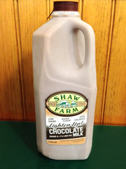 Shaw Farm - Lighten Up™ Chocolate Milk, half-gallon